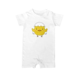 TK-marketの可愛い ひよこたまごTシャツ Baby rompers
