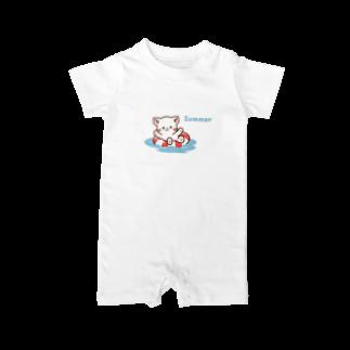 Haruna shopのしろねこ♡夏 summer Baby rompers