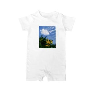 菊芋と空と雲 DATA_P_134 sky cloud Baby rompers