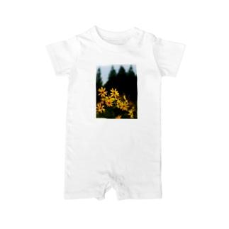 菊芋と樹木 DATA_P_139 tree Baby rompers