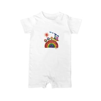 にじぐみTシャツ Baby rompers