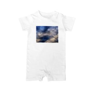 荒れる空 DATA_P_143 sky Baby rompers