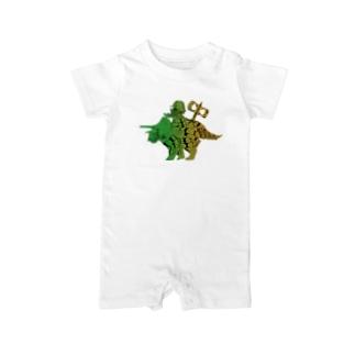 恐竜おもちゃくん透過 Baby rompers