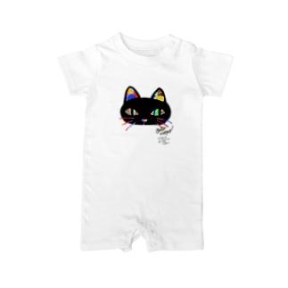 gato negro Baby rompers