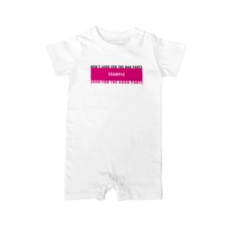 戒めTシャツ Baby rompers