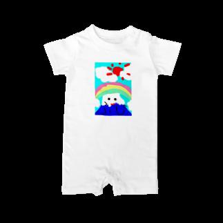 明白の子供が描いた富士山 Baby rompers
