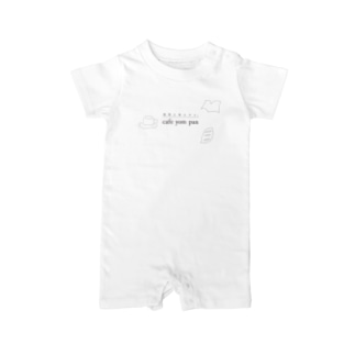 cafeyompanロゴ Baby rompers