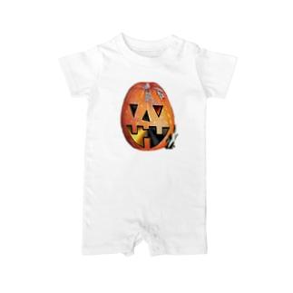 今頃ハロィンかぼちゃ Baby rompers