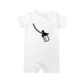 哺乳びんデザイン Baby Rompers