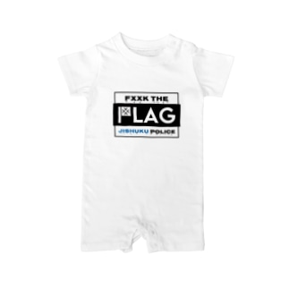 FLAG 枠あり Baby rompers