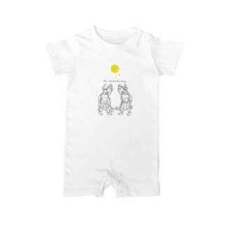 Night Fever(gray) Baby rompers