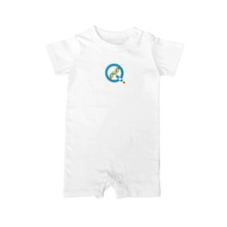 KagaQ(かがく)のKagaQ公式Logo Baby rompers