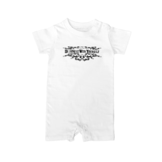 Be Honest With Yourself(BLACK) Baby rompers