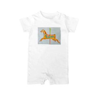 carousel watercolor Baby rompers