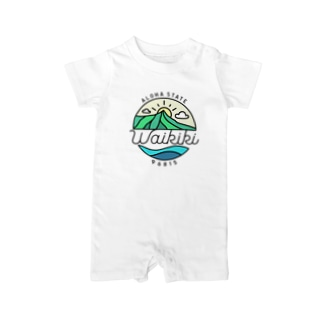 "General Tshirts StoreのAloha State ""Waikiki"" Baby rompers"