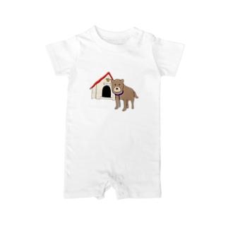顔が四角い犬🐶 Baby rompers