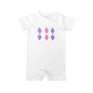 Diamond Pastel Baby rompers