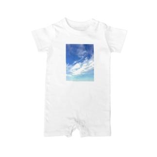 空と雲 Baby rompers