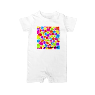 in a COLORFUL world... Baby rompers