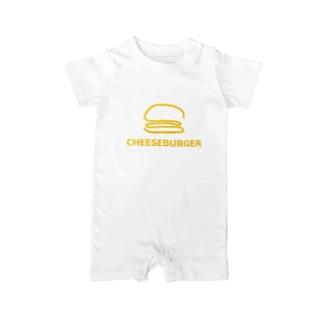 アメリカンベースのチーズバーガー Baby rompers