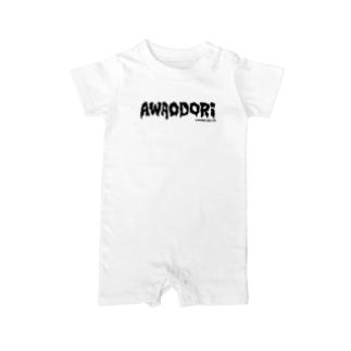 AWAODORI PUNK(BLACK) Baby rompers