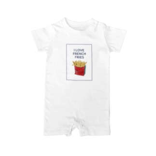 I LOVE FRENCH FRIES Baby rompers