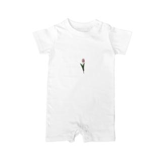 rilybiiのpink × tulip Baby rompers