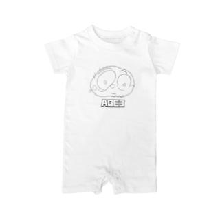 Jackpot-ArtsのAGE3 No2 「PAPA」 Baby Rompers
