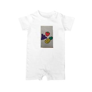 534388-568の果物だいすき Baby rompers