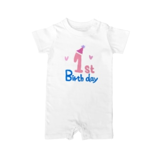 1ts birth day  記念日 ロンパース Baby Rompers