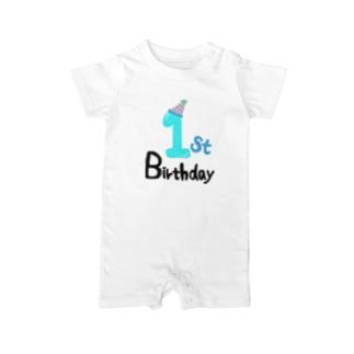 1st birthday 記念撮影 Baby rompers