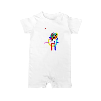 spaceman☆3 Baby rompers