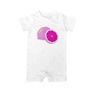 檸檬 pink Baby rompers