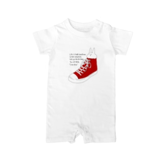 うさぎと靴 Baby rompers