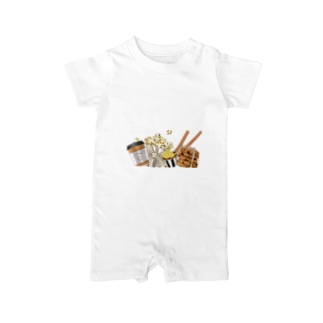 car on snacks Baby rompers