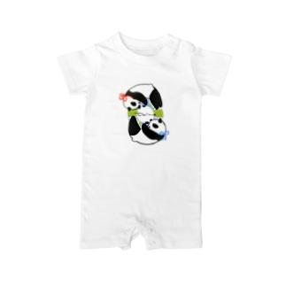 双子パンダ4 Baby Rompers