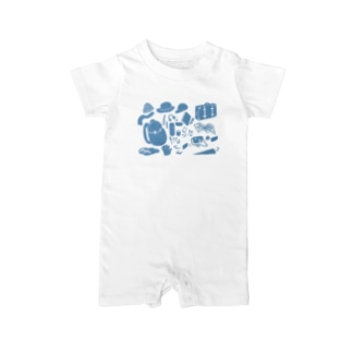 Travel Goods Blue Baby rompers