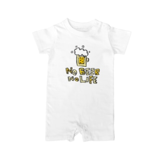 Children's Art / ノービールノーライフ NO BEER NO LIFE Baby rompers