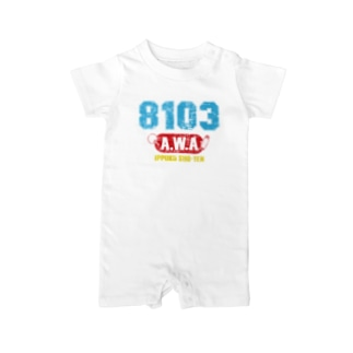 8103-AWA-ビンテージ風A Baby rompers