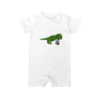 お仕事おつかれさまザウルス Baby rompers