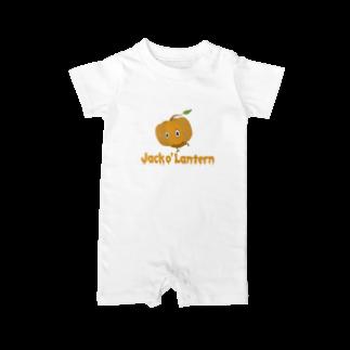 sakaのカボチャ頭 Jack o' Lantern Baby rompers