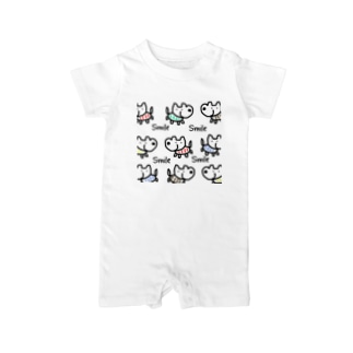 chaamootのスマイルドック🐕 Baby rompers