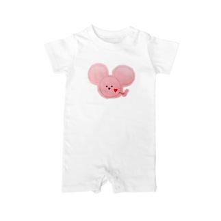 ネズミ ピンク Baby rompers