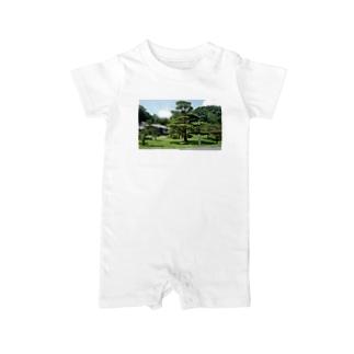 仙巌園の松 Baby rompers