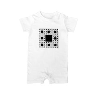 Fractal Sierpinski Carpet Baby rompers