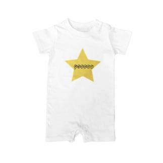 スターロゴプーケット Baby rompers