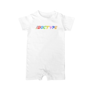 !DOCTYPE ロゴ Baby rompers