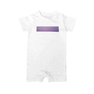 ピンク紫の朝焼けマジックアワーロンパース Baby rompers