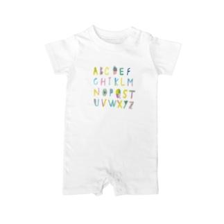 アルファベット Baby rompers