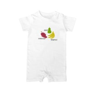 フルーツ Baby rompers